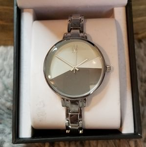 INC Womenssage/gray tone face Color Block 36mm